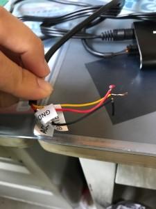 MA02ミラーリングアダプター電源用配線
